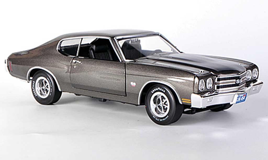 Chevrolet Chevelle 1970 1/18 Ertl SS454 grise/noire miniature