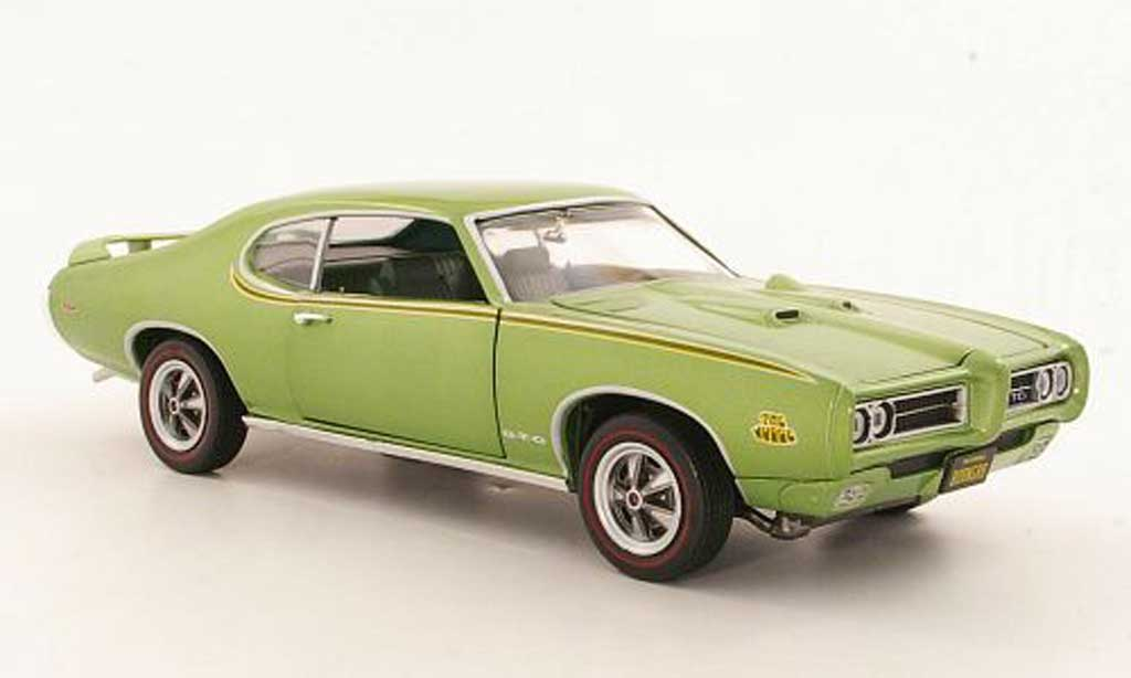 Pontiac GTO 1/18 Ertl Judge gray metallisee green 1969 diecast