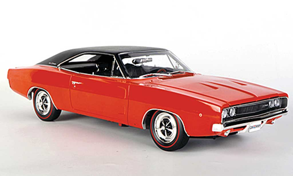dodge charger 1968 red mattblack ertl diecast model car 1. Black Bedroom Furniture Sets. Home Design Ideas