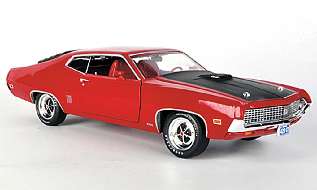 ford gran torino gt 429 rot mattschwarz 1970 ertl modellauto 1 18 kaufen verkauf modellauto. Black Bedroom Furniture Sets. Home Design Ideas