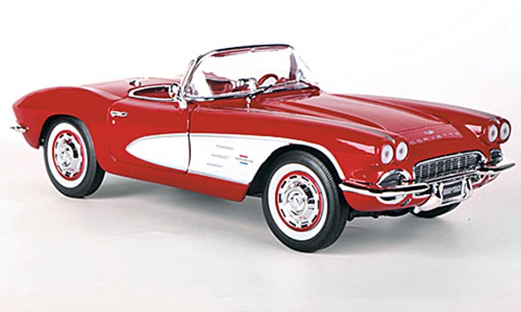 Chevrolet Corvette C1 1/18 Ertl (C1) rouge/blanche miniature