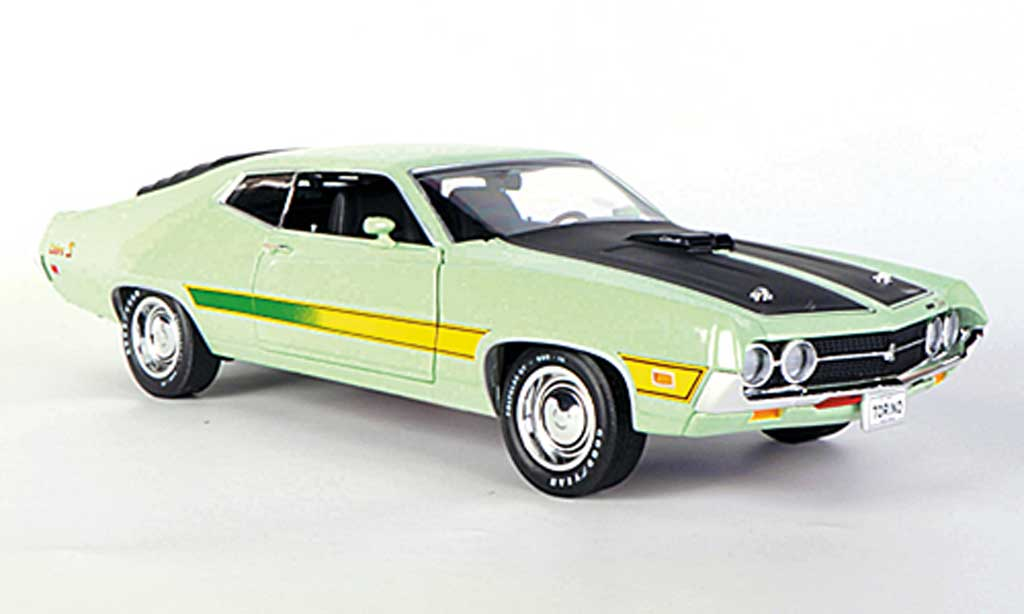 ford gran torino cobra hellgrun mattschwarz 1971 ertl modellauto 1 18 kaufen verkauf. Black Bedroom Furniture Sets. Home Design Ideas