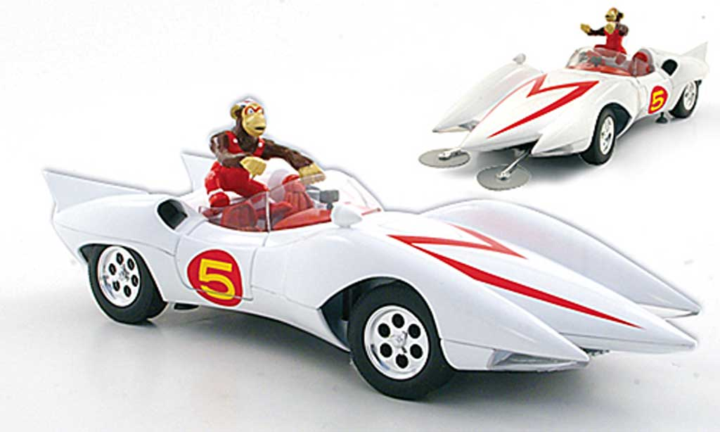 Mach 5 Speed Racer 1/18 Ertl white diecast