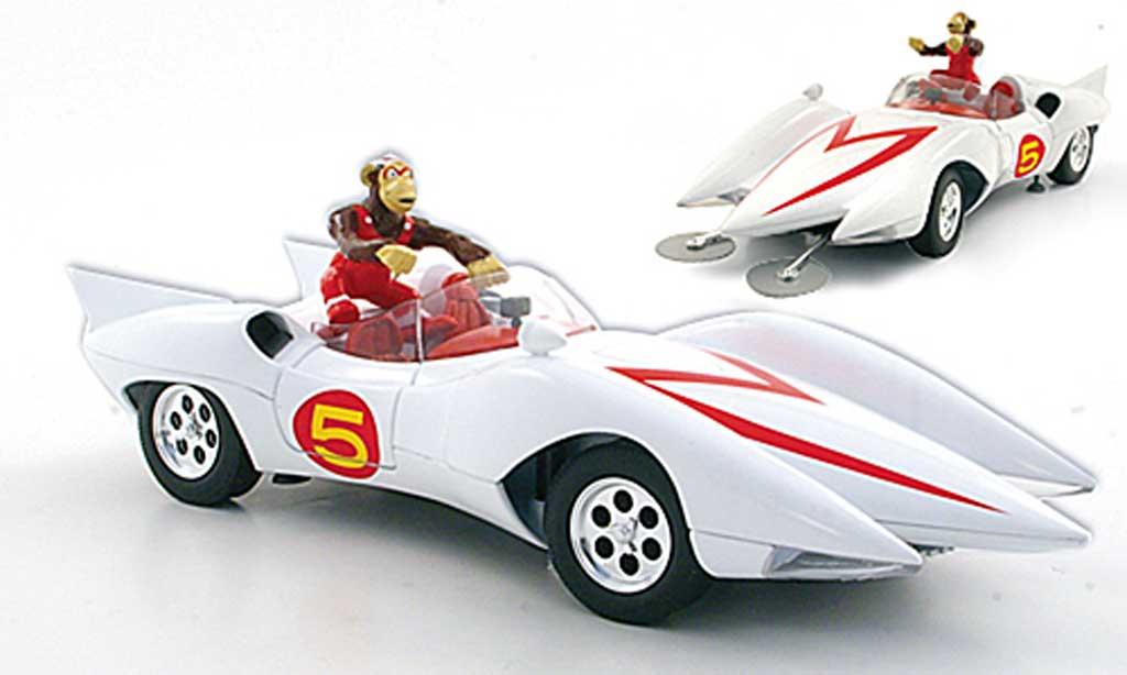 Mach 5 Speed Racer 1/18 Ertl blanche miniature