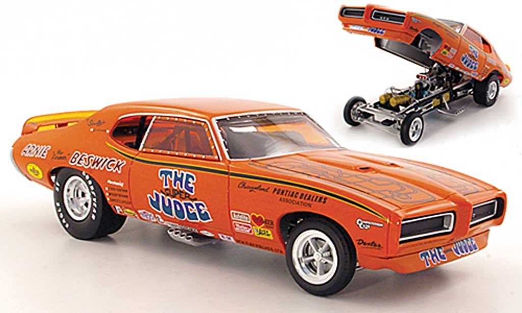 Pontiac GTO 1/18 Ertl Super Judge Arnie ''the Farmer'' BeswickFunny Car 1969 miniature