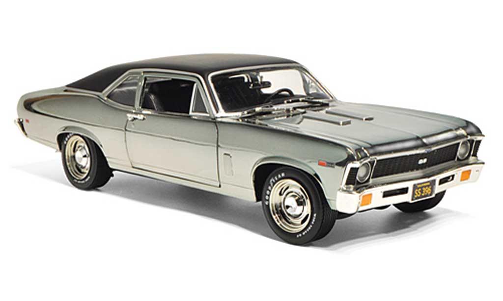 Chevrolet Nova 1969 1/18 Ertl SS 396 chrom/noire miniature
