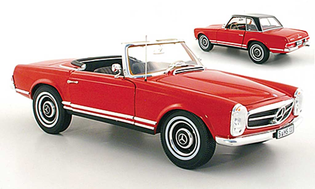Mercedes 230 1/18 Norev SL (W113) rouge miniature