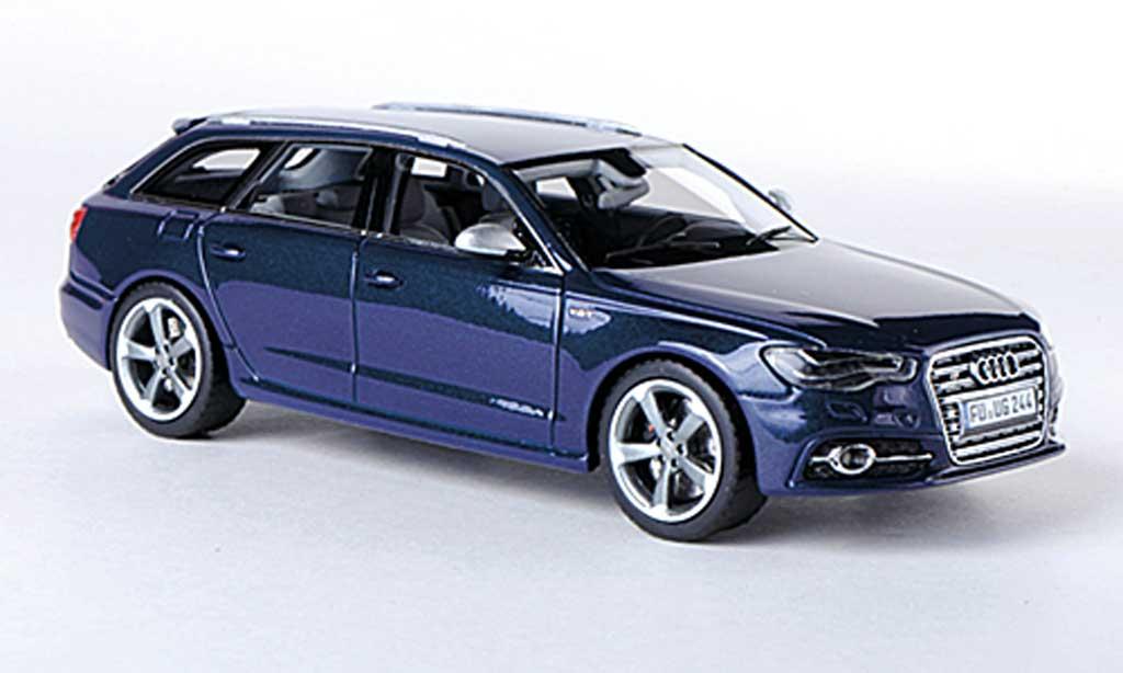 Audi S6 1/43 Schuco Avant (C7) bleu 2012