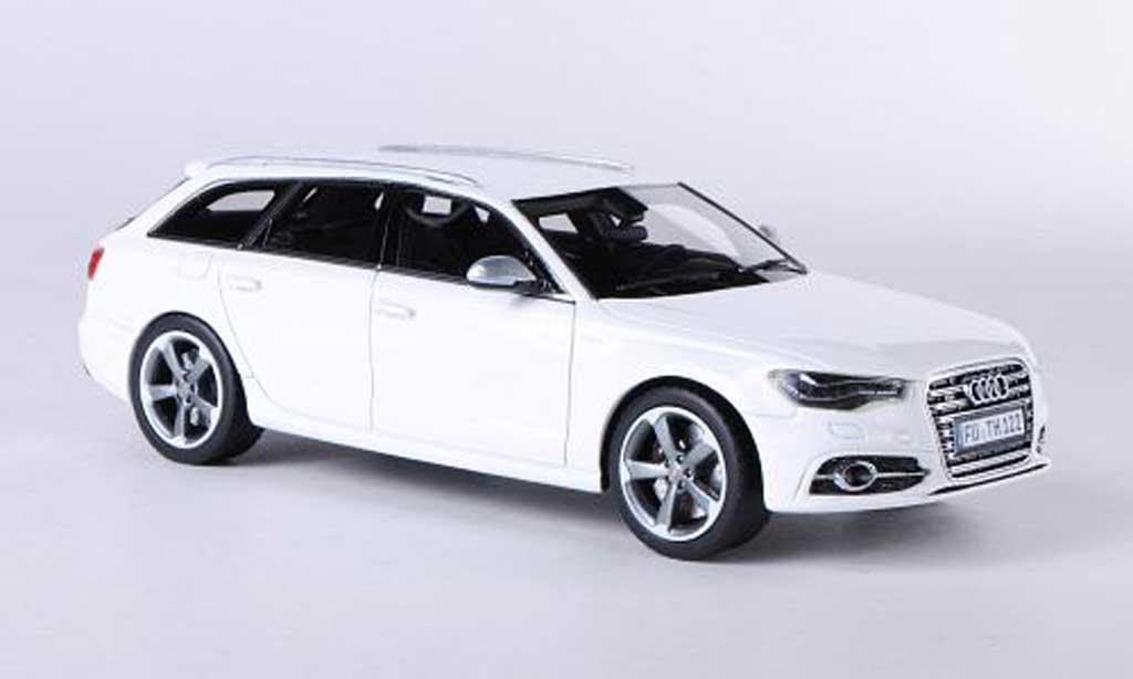 Audi S6 1/43 Schuco Avant (C7) blanche 2012 miniature