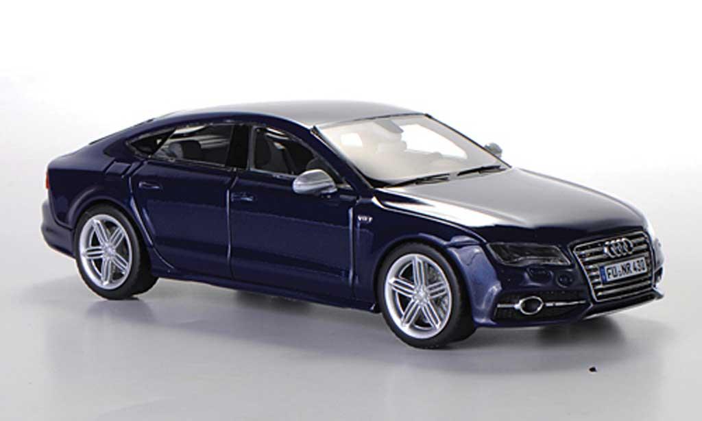 Audi S7 1/43 Schuco Sportback bleu 2012 diecast model cars