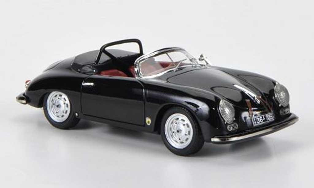 Porsche 356 1/43 Schuco A Speedster noire miniature