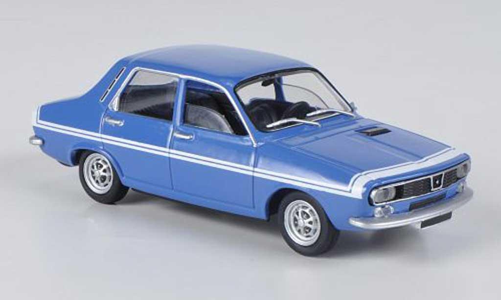 Renault 12 Gordini 1/43 Solido bleu/blanche 1971