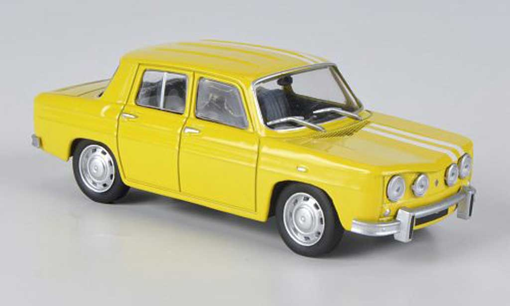 renault 8 s miniature jaune blanche 1969 solido 1 43 voiture. Black Bedroom Furniture Sets. Home Design Ideas