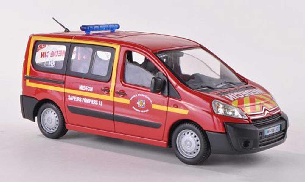 Citroen Jumpy 1/43 Solido Medecin Sapeurs Pompiers Feuerwehrambulanz (F) 2012 diecast model cars