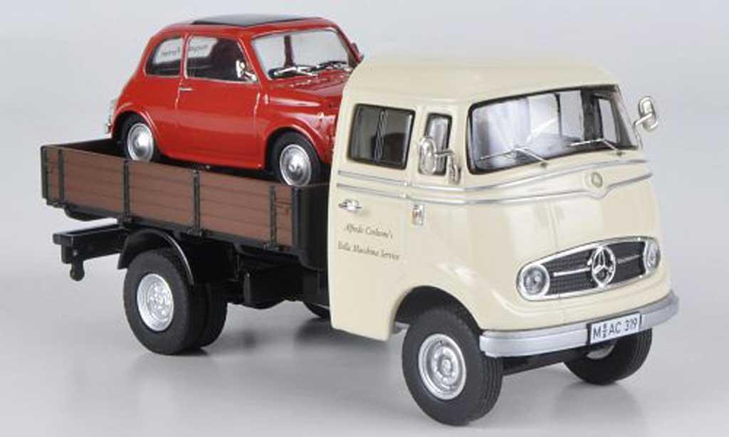 Mercedes L319 1/43 Premium ClassiXXs Fiat 500 Bella Macchina Service miniature