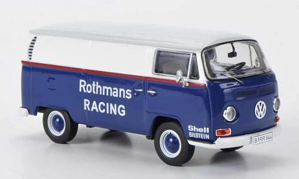 Volkswagen T2 A 1/43 Premium ClassiXXs Kasten rougehmans Racing blanche/bleu/grise miniature