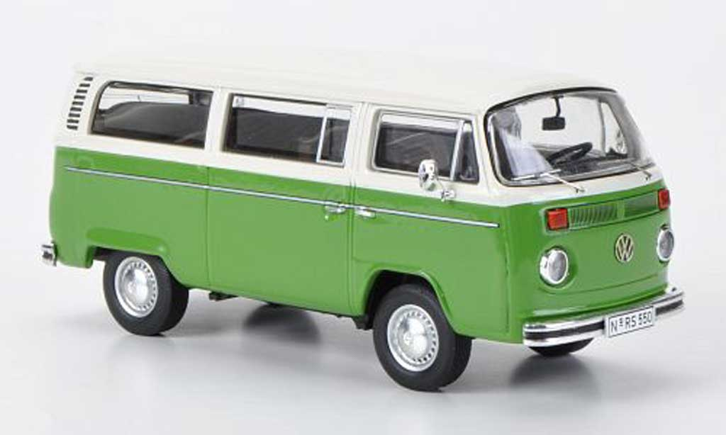 Volkswagen T2 B 1/43 Premium ClassiXXs Bus L verte/blanche miniature