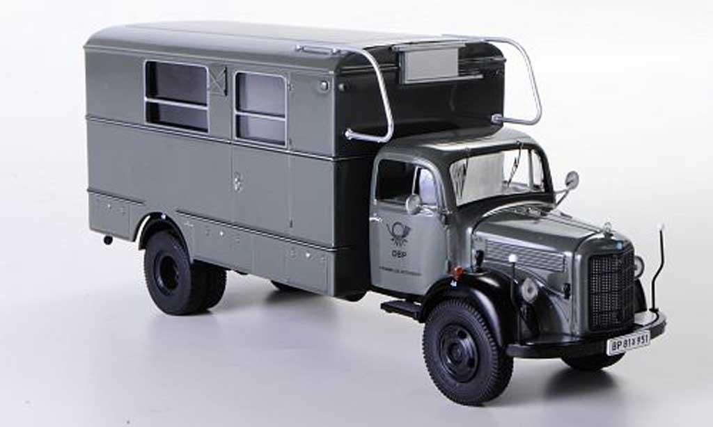 Mercedes L3500 1/43 Premium ClassiXXs Fenster-Koffer Fernmeldenotdienst grise miniature