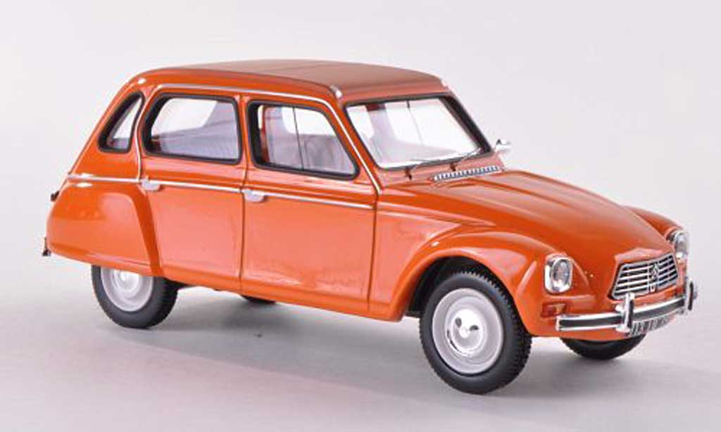 Citroen Dyane Miniature Orange 1974 Norev 1 43 Voiture Miniature Com