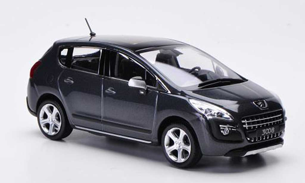 3008 2009 Miniature Peugeot Voiture Norev Grise 143 doxeCB