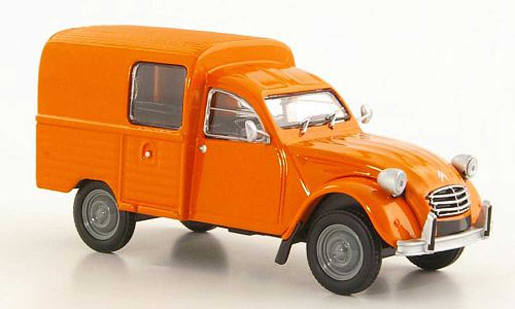 Citroen 2CV 1/43 Eligor AKS400 orange 1974 miniature