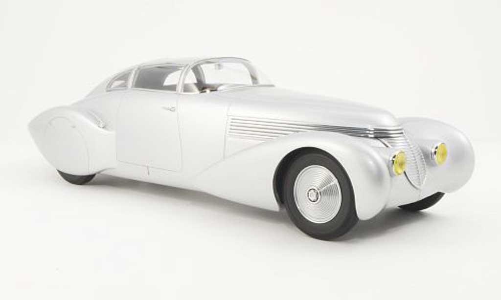 Hispano Suiza Dubonnet 1/18 Minichamps H6C Xenia grise 1938 miniature