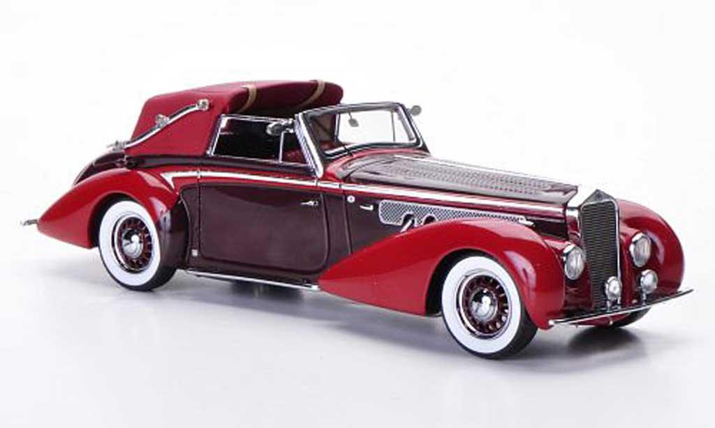 Delage D8-120 1/43 Minichamps Cabriolet rouge/rouge 1939 miniature