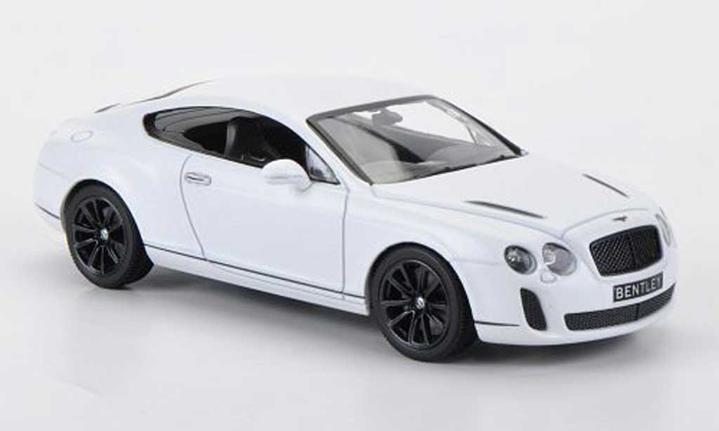 Bentley Continental 1/43 Minichamps Supertsports matt- blanche avec Figur 2009 miniature