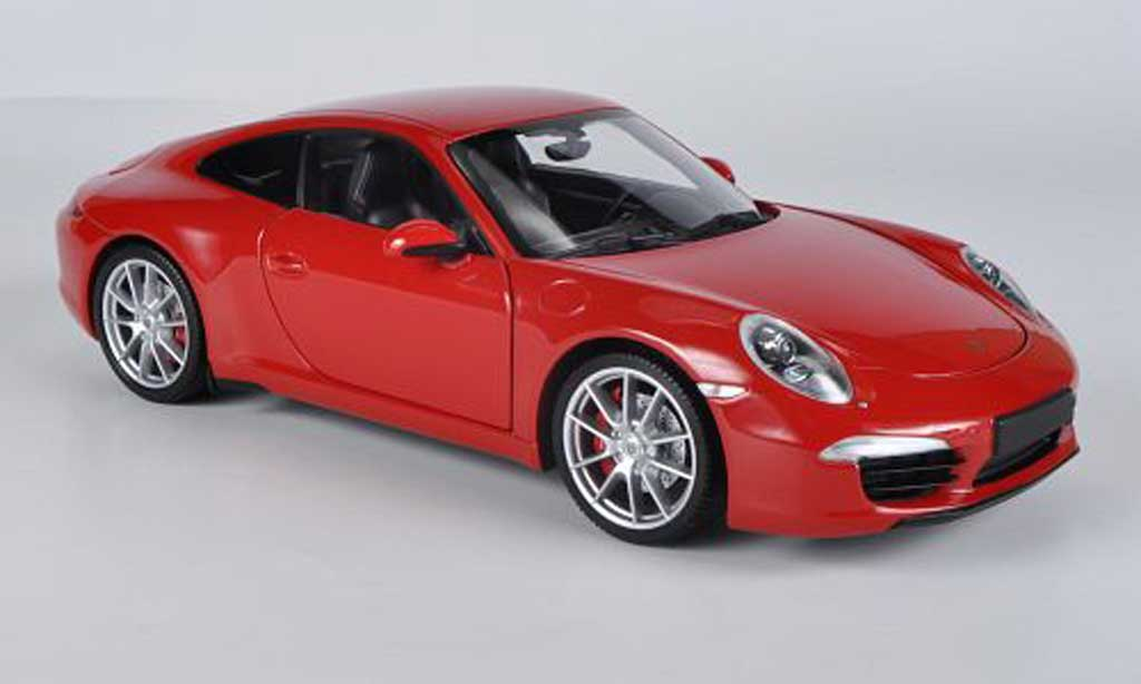 Porsche 991 Carrera S red 2011 Minichamps. Porsche 991 Carrera S red 2011 miniature 1/18