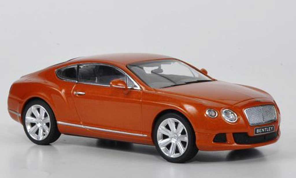Bentley Continental 1/43 Minichamps GT orange 2011 miniature
