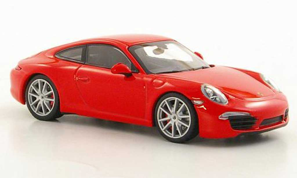 Porsche 991 S 1/43 Minichamps Carrera rouge 2012 miniature