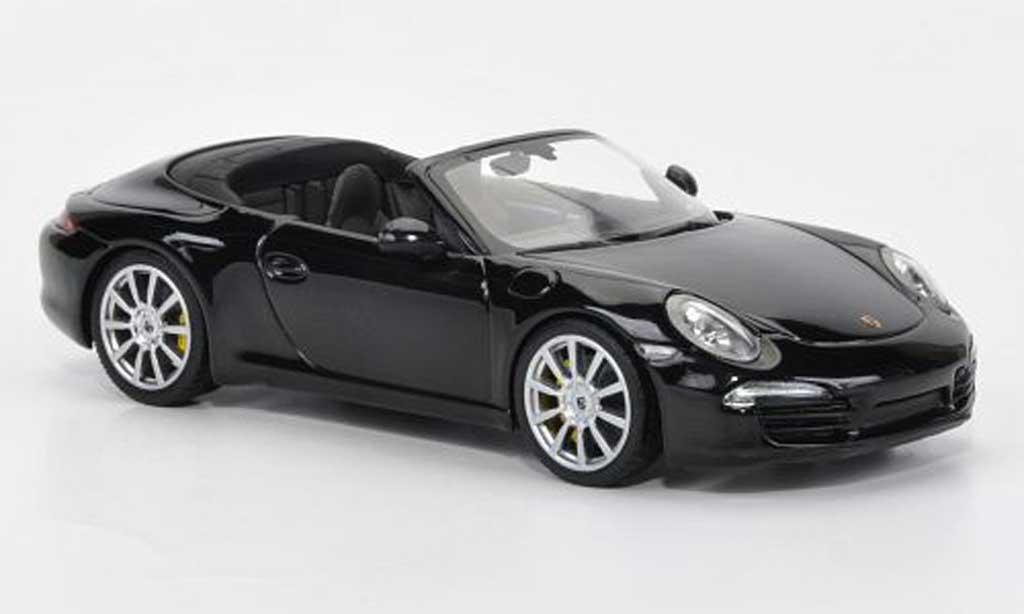 Porsche 991 S 1/43 Minichamps Carrera Cabriolet noire 2012 miniature