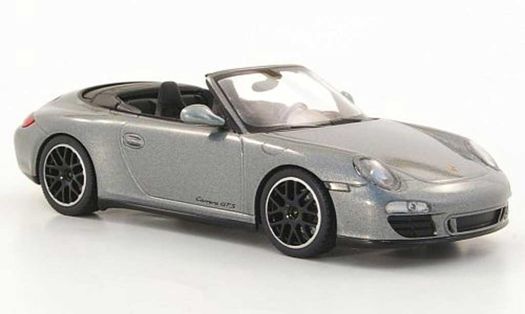 Porsche 997 GTS 1/43 Minichamps Cabriolet Carrera (II) grey 2011 diecast model cars