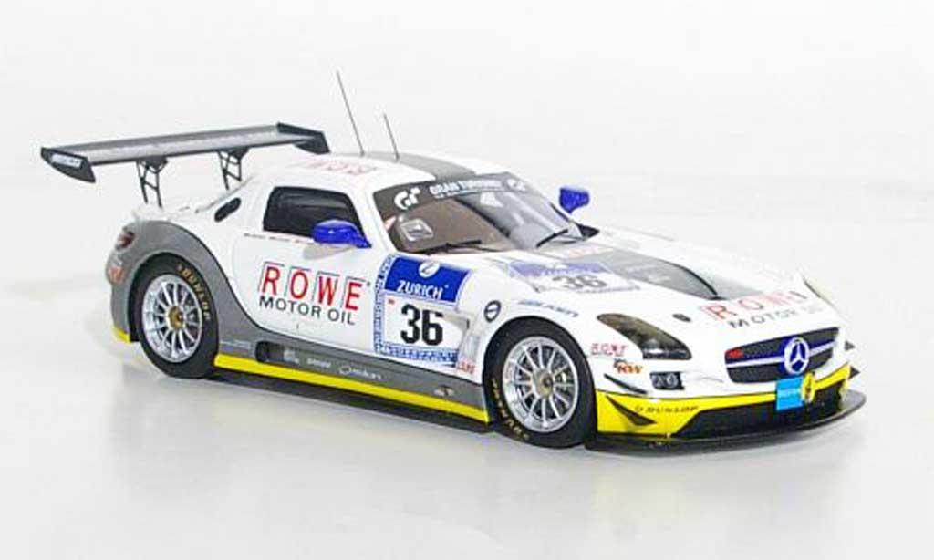 Mercedes SLS 1/43 Minichamps AMG GT3No.36 Rowe Racing 24h Nurburgring 2011 miniature