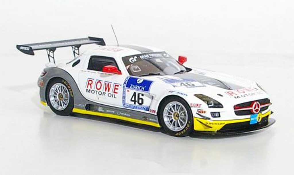 Mercedes SLS 1/43 Minichamps AMG GT3 No.46 Rowe Racing 24h Nurburgring 2011 miniature