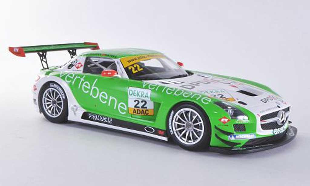 Mercedes SLS 1/18 Minichamps AMG GT3 No.22 MS Racing D.Sigacev / F.Stoll ADAC GT Masters-Saison 2011 miniature