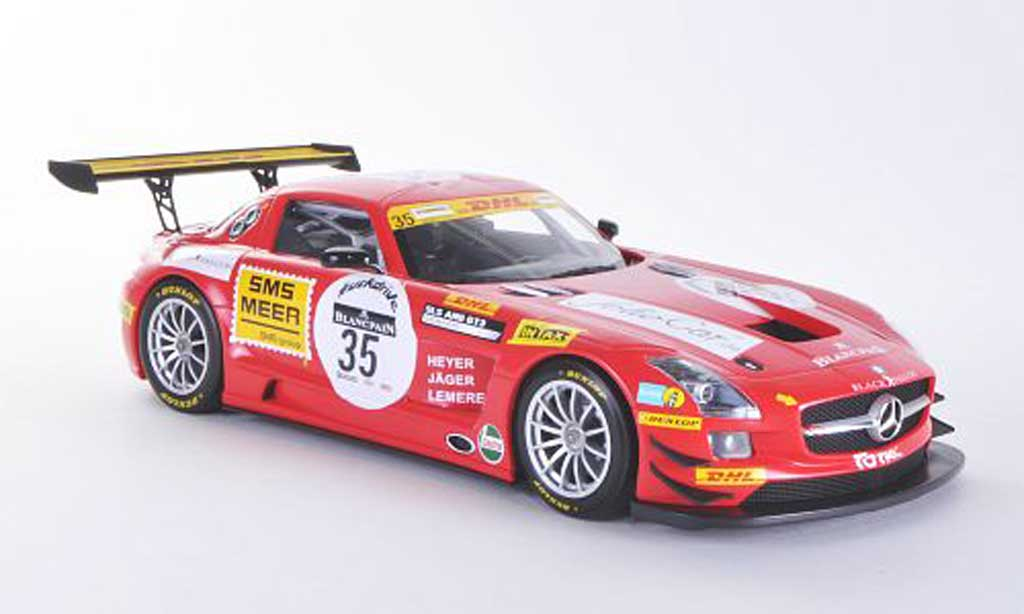 Mercedes SLS 1/18 Minichamps AMG GT3 No.35 Team Black Falcon K.Heyer / T.Jager / S.Lemeret 24h Spa 2011 miniature