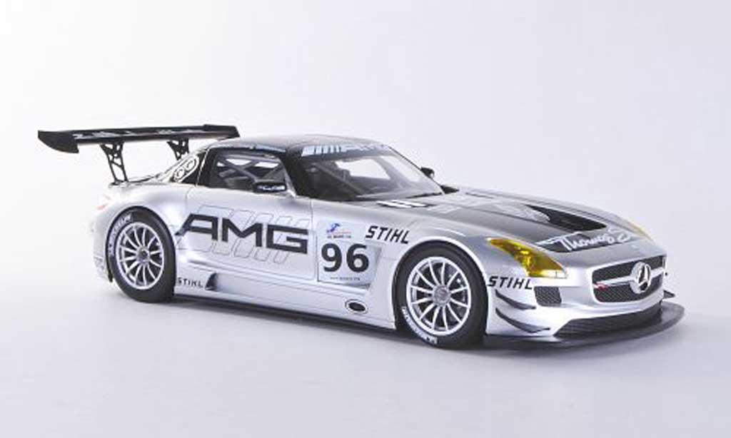 Mercedes SLS 1/18 Minichamps AMG GT3 No.96 Team AMG China Hakkinen / Cheng / Arnold ILMC 6h Zhuhai 2011 miniature