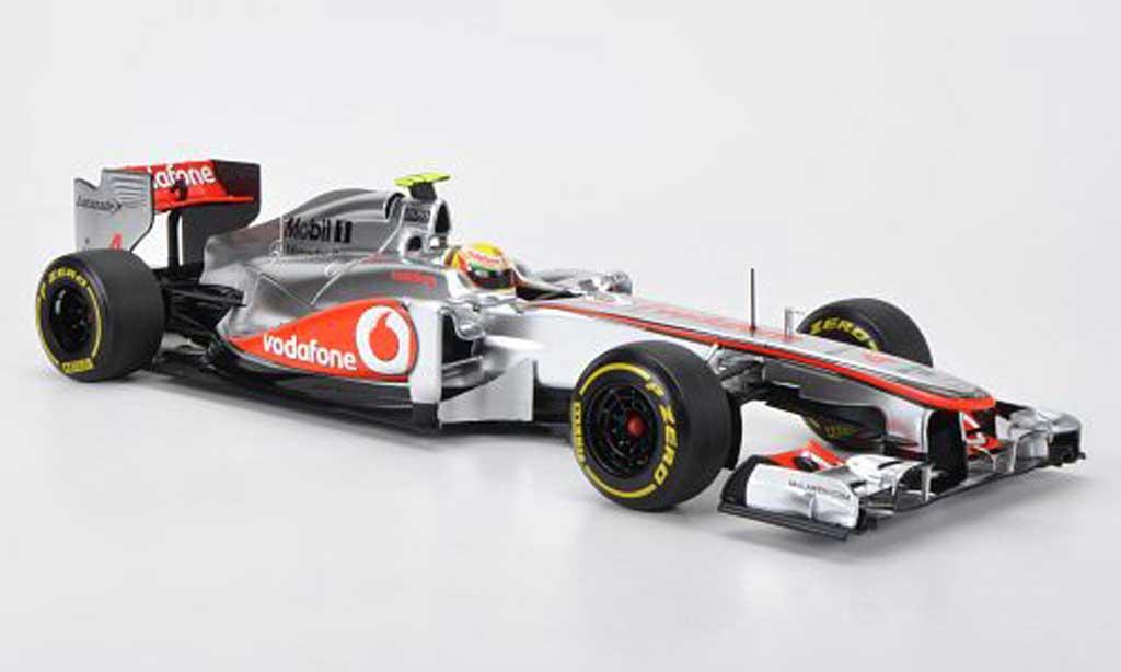 Mercedes F1 1/18 Minichamps McLaren Vodafone No.4 L.Hamilton Presentationsfahrzeug 2012 miniature