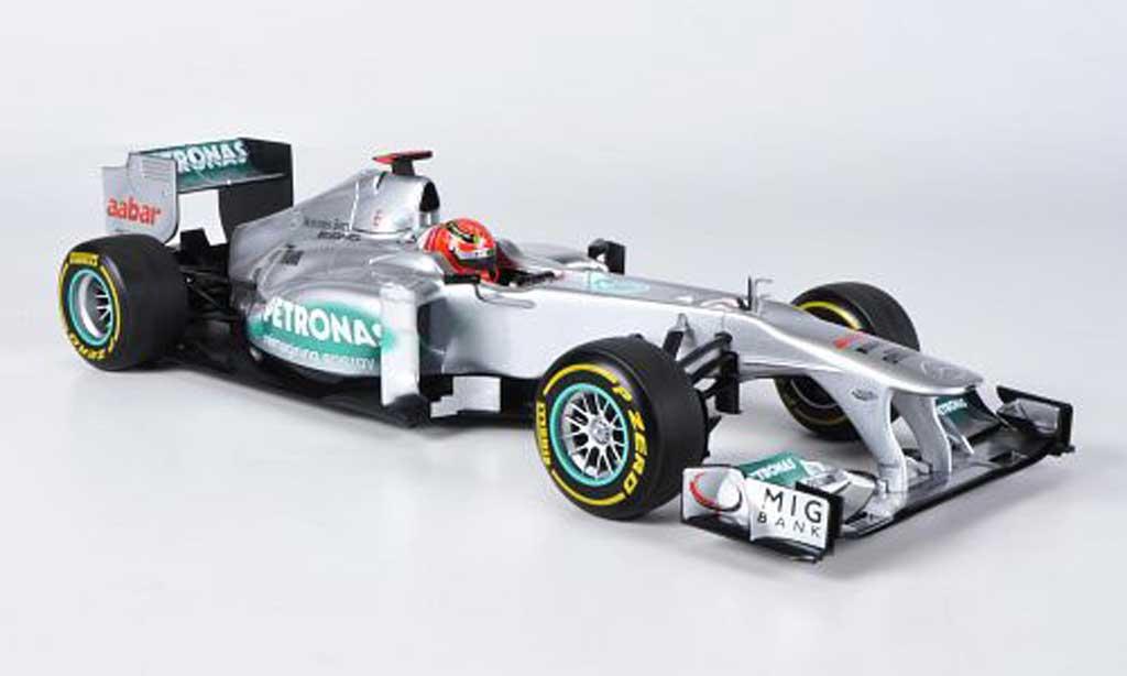 Mercedes F1 1/18 Minichamps AMG F1 Team No.7 Petronas M.Schumacher Showcar 2012 miniature