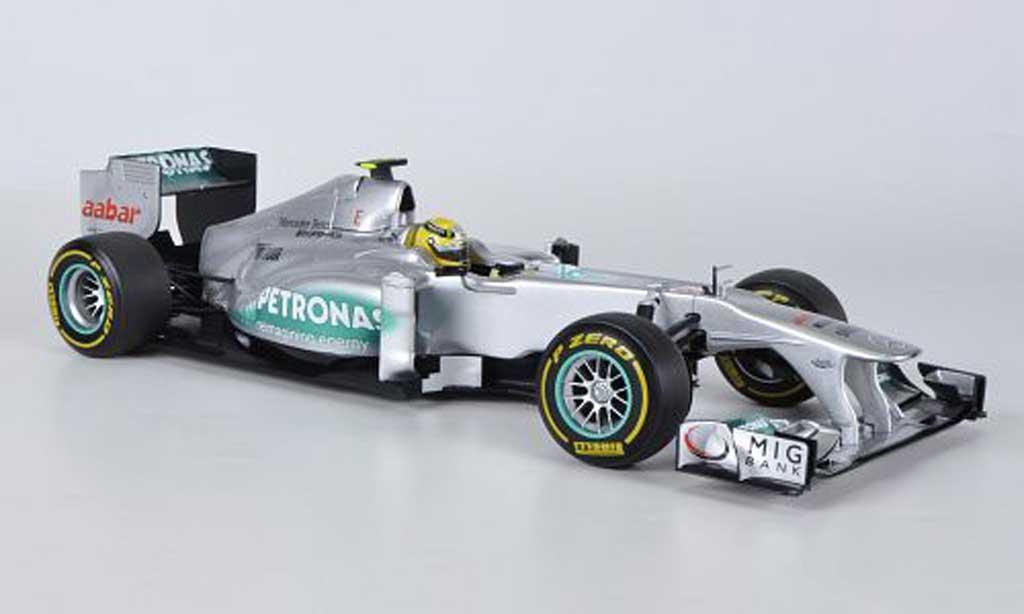 Mercedes F1 1/18 Minichamps AMG F1 Team No.8 Petronas N.Rosberg Showcar 2012 miniature
