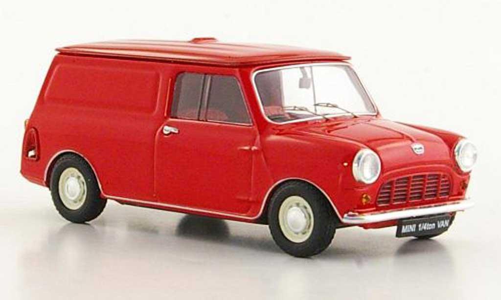 Austin Mini Van 1/43 Ebbro 1/4 ton rouge RHD miniature