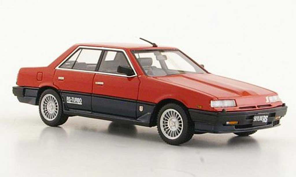 Nissan Skyline 2000 1/43 Hi Story Sedan Turbo -X rouge/bleu RHD 1984 miniature