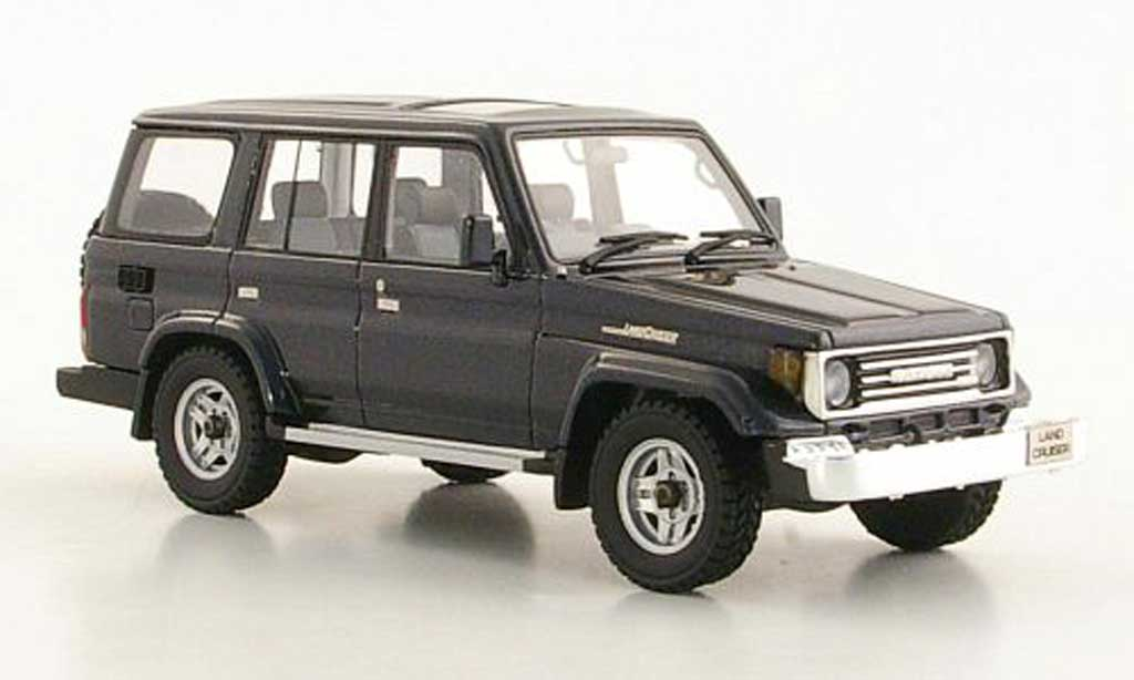 Toyota Land Cruiser 1/43 Hi Story 70 bleugrise RHD 1990 miniature
