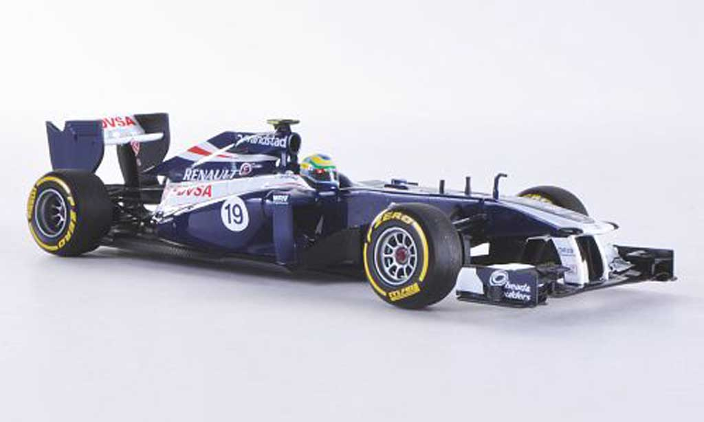 Renault F1 1/43 Minichamps Williams Team No.19 B.Senna Prasentationsfahrzeug 2012 coche miniatura