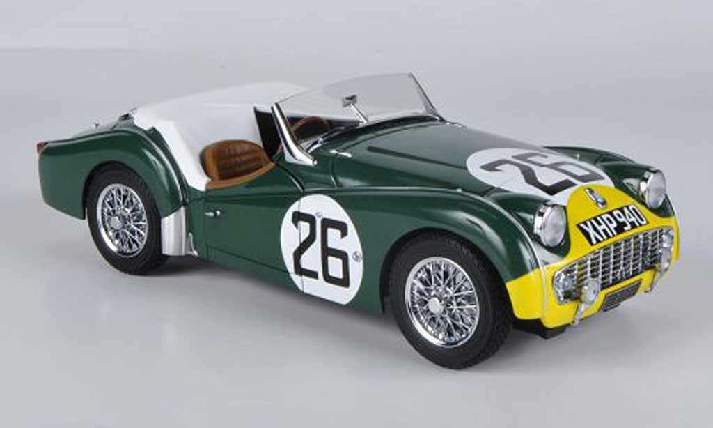 Triumph TR3 S 1/18 Kyosho No.26 24h Le Mans 1959 modellautos