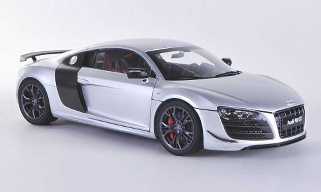 Audi R8 GT 1/18 Kyosho grey/carbon 2012 diecast model cars