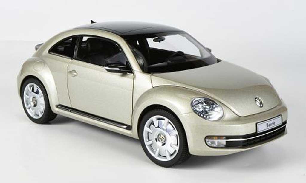 Volkswagen Beetle 1/18 Kyosho Coupe beige 2011 miniature