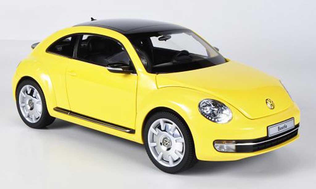 Volkswagen Beetle 1/18 Kyosho Coupe jaune miniature