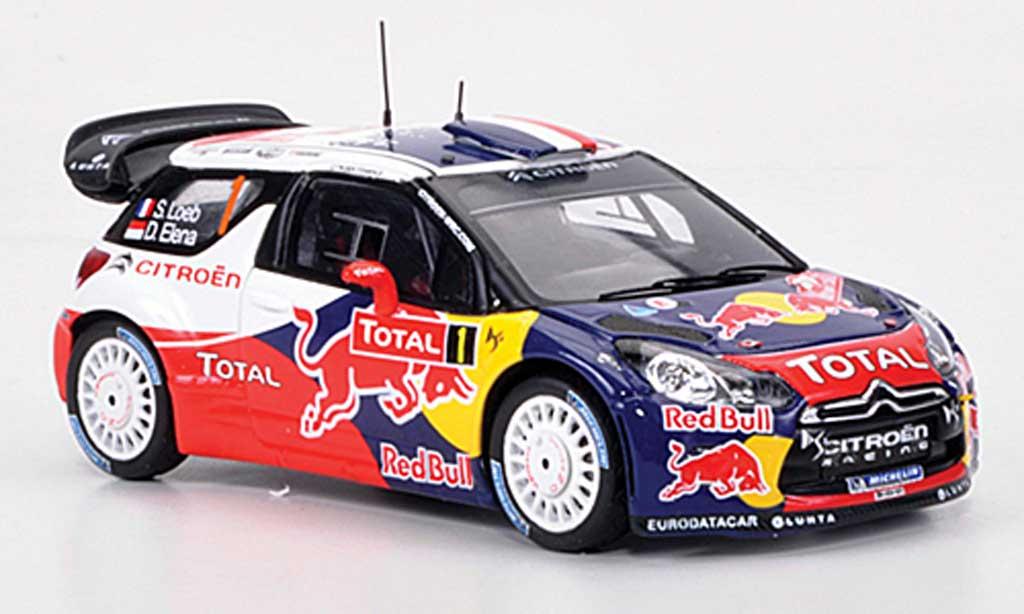 DS Automobiles DS3 WRC 2012 1/43 Spark WRC 2012 No.1 Red Bull S.Loeb/D.Elena Monte Carlo diecast model cars
